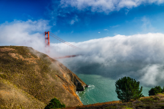 California San Francisco Golden Gate Background for Android, iPhone and iPad