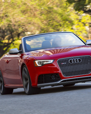 Audi RS5 Cabriolet Wallpaper for Nokia C5-05