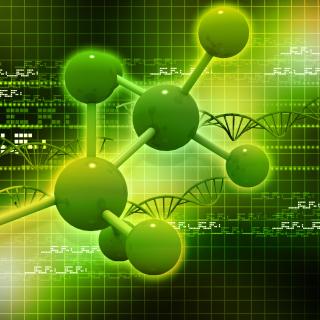 Metallic Green Molecules - Obrázkek zdarma pro 1024x1024