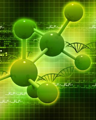 Metallic Green Molecules - Obrázkek zdarma pro 240x400