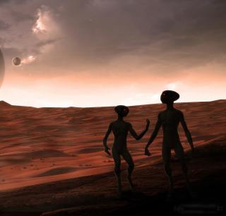 Aliens - Obrázkek zdarma pro 1024x1024