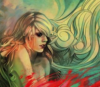 Blonde Woman Painting - Obrázkek zdarma pro 208x208