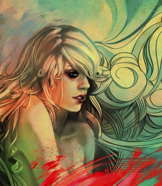 Free Blonde Woman Painting Picture for 480x854