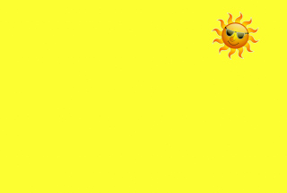 Yellow Sun Illustration Wallpaper for Android, iPhone and iPad
