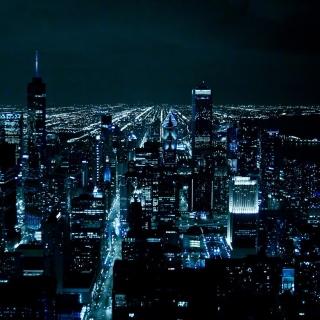 Chicago Night Lights - Obrázkek zdarma pro 208x208