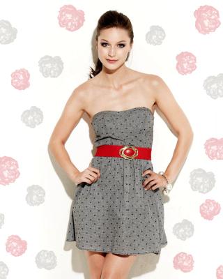 Melissa Benoist in Dress - Obrázkek zdarma pro Nokia Asha 202