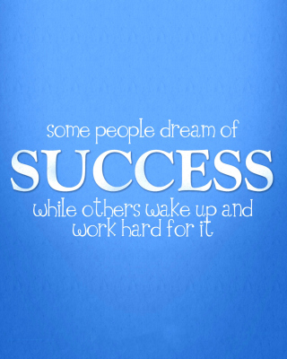 Success Quote - Obrázkek zdarma pro Nokia Lumia 920
