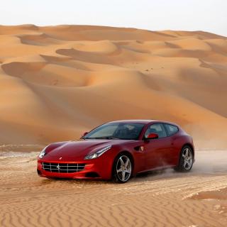 Ferrari FF in Desert - Obrázkek zdarma pro 208x208
