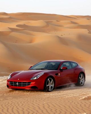 Ferrari FF in Desert - Obrázkek zdarma pro 480x640