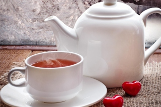 Romantic Tea Evening Wallpaper for Android, iPhone and iPad