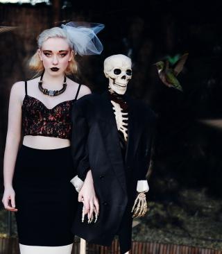 Skeleton's Bride - Obrázkek zdarma pro Nokia Asha 308