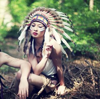 Indian Feather Hat - Obrázkek zdarma pro iPad