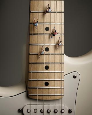 Funny Guitar - Obrázkek zdarma pro Nokia Asha 309