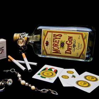 Dry Gin Moreys - Obrázkek zdarma pro 128x128