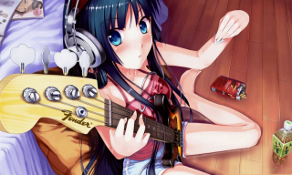 Anime Girl With Guitar Wallpaper for Android, iPhone and iPad