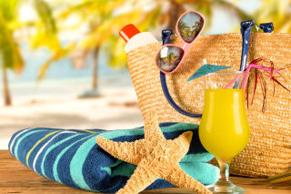 Accessories for beach holiday - Obrázkek zdarma pro Fullscreen Desktop 1600x1200