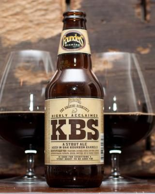 KBS Kentucky Breakfast Stout Stout Ale - Obrázkek zdarma pro 640x1136