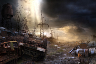 Breathtaking Post Apocalypse Artwork Background for Android, iPhone and iPad