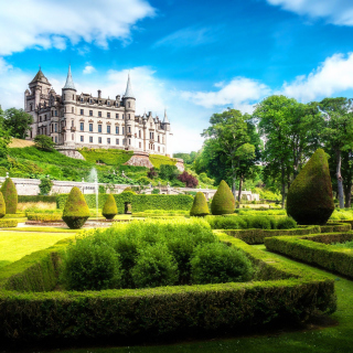 Dunrobin Castle in Scotland - Obrázkek zdarma pro 128x128