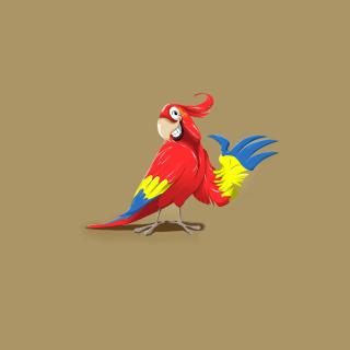 Funny Parrot Drawing - Obrázkek zdarma pro iPad 3