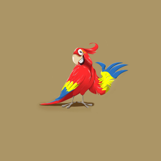 Funny Parrot Drawing - Obrázkek zdarma pro 2048x2048