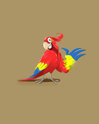 Funny Parrot Drawing - Obrázkek zdarma pro Nokia Lumia 610