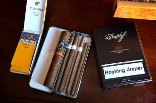Davidoff and Cohiba Cigars Background for Android, iPhone and iPad