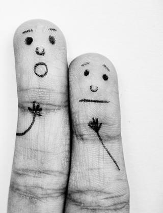 Emotional Fingers - Obrázkek zdarma pro 640x960