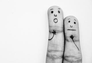 Emotional Fingers - Obrázkek zdarma pro 320x240