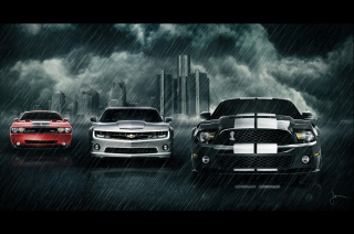 Camaro Challenger and Mustang Wallpaper for Android, iPhone and iPad
