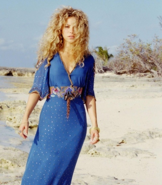 Shakira On Beach - Obrázkek zdarma pro Nokia Lumia 810