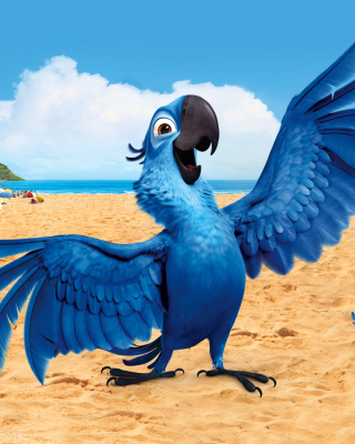 Rio, Blu Parrot - Obrázkek zdarma pro 176x220