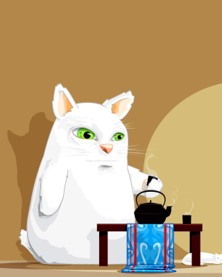 Japanese Cat Breakfast - Obrázkek zdarma pro Nokia X7