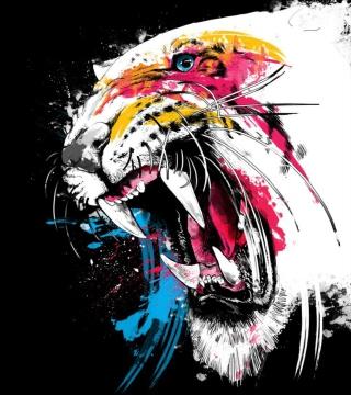 Tiger Colorfull Paints - Obrázkek zdarma pro iPad mini 2
