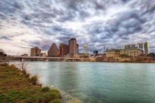 USA Sky Rivers Bridges Austin TX Texas Clouds HDR - Fondos de pantalla gratis para Widescreen Desktop PC 1920x1080 Full HD