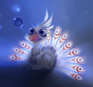 White Peacock Painting - Obrázkek zdarma pro iPad mini