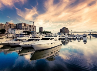Luxury Yachts In Nice Background for Android, iPhone and iPad