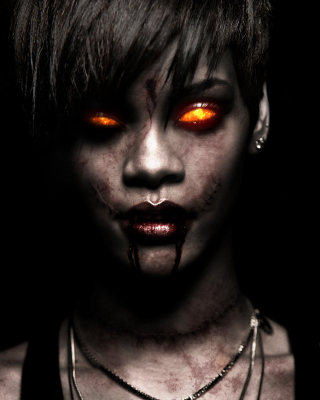 Rihanna Zombie - Obrázkek zdarma pro 132x176