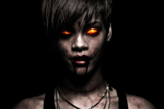 Rihanna Zombie Wallpaper for Android, iPhone and iPad