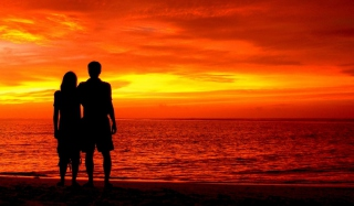 Romantic Silhouettes Wallpaper for Android, iPhone and iPad