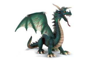 Emerald Dragon Picture for Android, iPhone and iPad
