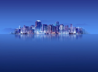 Blue City HD Picture for Android, iPhone and iPad