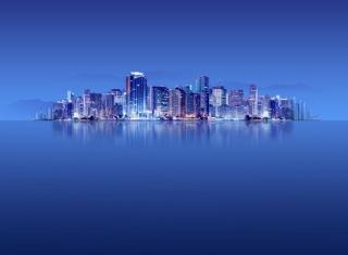 Blue City HD - Obrázkek zdarma pro Motorola DROID