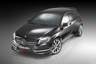 Mercedes A250 Piecha Tuning Front View Background for Android, iPhone and iPad