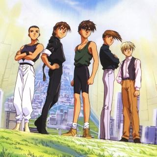 Quatre Gundam Pilots - Obrázkek zdarma pro 320x320
