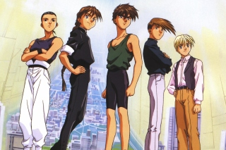 Quatre Gundam Pilots - Obrázkek zdarma pro 320x240