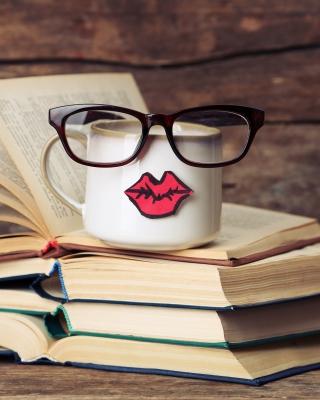 Mustache on mug - Obrázkek zdarma pro 480x854