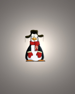 Funny Penguin Illustration - Obrázkek zdarma pro Nokia 5233