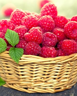 Basket with raspberries - Obrázkek zdarma pro 132x176