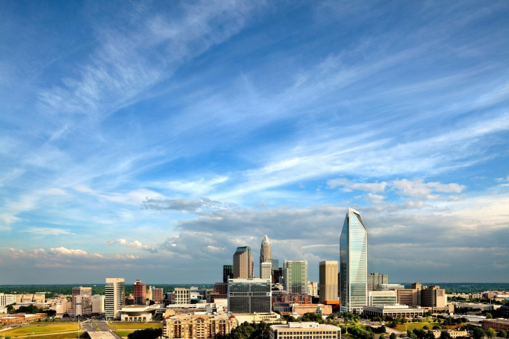 charlotte skyline wallpaper for android iphone and ipad